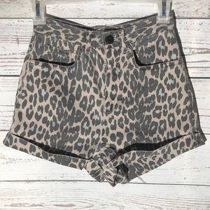 High waist Topshop shorts